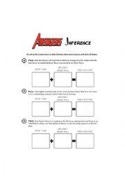 English Worksheet: Avengers Inference