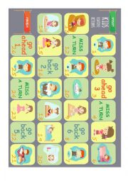 Daily routine actions board game