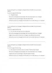 Making suggestions roleplay - ESL worksheet by krzlnunes