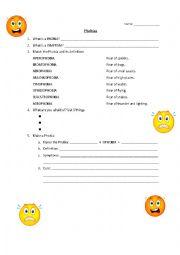 English Worksheet: Phobias worksheet