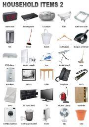 English Worksheet: Household Items 2