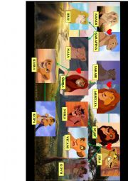 English Worksheet: The Lion King family tree