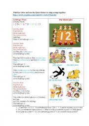 English Worksheet: LADYBUGS� PICNIC ( a poem based on the cartoon)