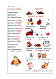 English Worksheet: LADYBUG, LADYBUG!