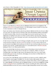 Jesse Owens Biography and 1936 Olympics