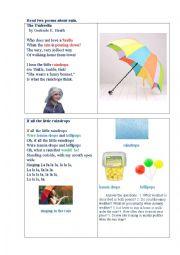 English Worksheet: RAIN ( two poems)