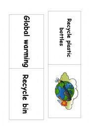 English Worksheet: Ecology domino game