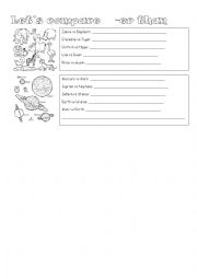 English Worksheet: let�s compare