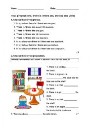 Test for elementary pupils