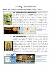 English Worksheet: Reading about two Museums