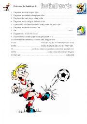 English Worksheet: SOCCER vocabulary worksheet