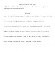 english worksheets improve your writing skills. Black Bedroom Furniture Sets. Home Design Ideas