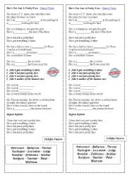English Worksheet: She�s Not Just A Pretty Face - Shania Twain