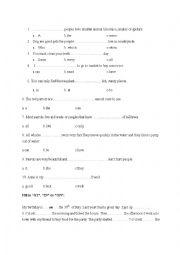 English Worksheet: Movers yle exercises