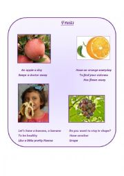 English Worksheet: Fruits