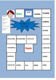 adverbs of manner boardgame
