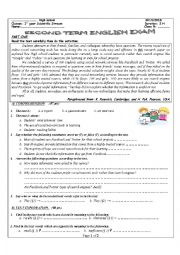 English Worksheet: An exam about students preferences between social network tools (Facebook and Twitter)  and search engines (Google and Yahoo)
