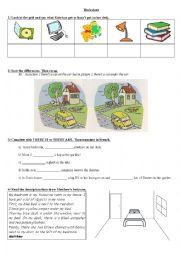 English Worksheet: Worksheet House Describing