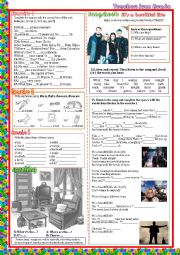 SONG WORKSHEET A BEUTIFUL LIFE BY ACE OF BASE
