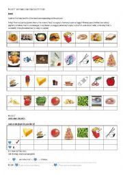 English Worksheet: FOOD LIKES AND DISLIKES