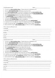 English Worksheet: Participial Adjectives Quiz