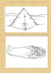 English Worksheet: Ancient Egypt flash cards