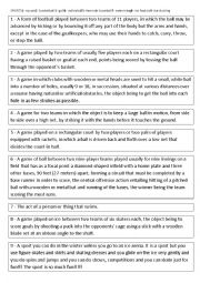 English Worksheet: Tic Tac Toe with sports