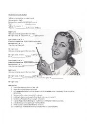 English Worksheet: Song: Night nurse by Simply Red