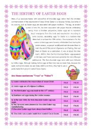 English Worksheet: The History of the Easter Egg