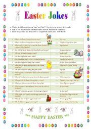 English worksheet: Easter Jokes 1 - matching