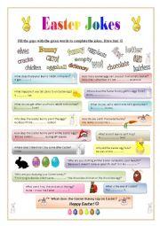 Easter Jokes 2 - gap-filling