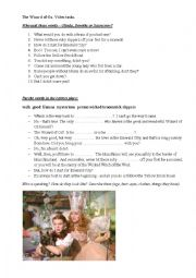 English Worksheet: The Wizard of Oz. Video tasks.
