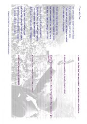 English Worksheet: Segregation poem