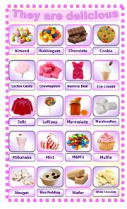 English Worksheet: They are delicious ... Candies!