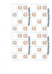 English Worksheet: telling the time bingo