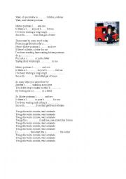 Song: introduction to the topic writing letters or present perfect continuous