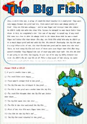 English Worksheet: The big fish in a small pond