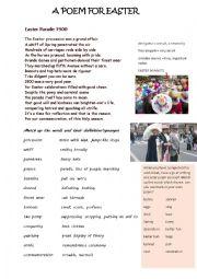 English Worksheet: A poem for Easter