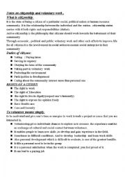 English Worksheet: what is citizenship ?