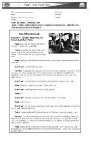 English Worksheet: Test: Rosa Parks and Segregation