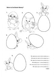 English Worksheet: Where is the Easter Bunny?