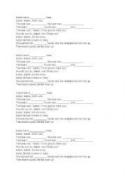 English Worksheet: Adjectives Poem