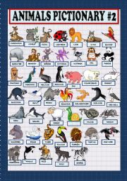 English Worksheet: Animal pictionary part 2