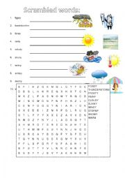 weather wordsearch unscramle