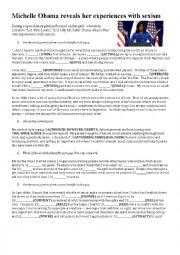 English Worksheet: Michelle Obama�s Speech - Argentina 2016