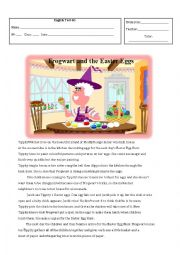 English Worksheet: Frogwart and the Easter Eggs test