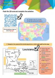 English Worksheet: Webquest Louisiana