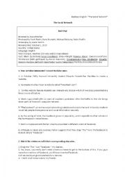 English Worksheet: The Social Network Activities