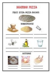 English Worksheet: Making Pizza - Cooking Vocabulary