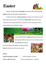 English Worksheet: Easter reading